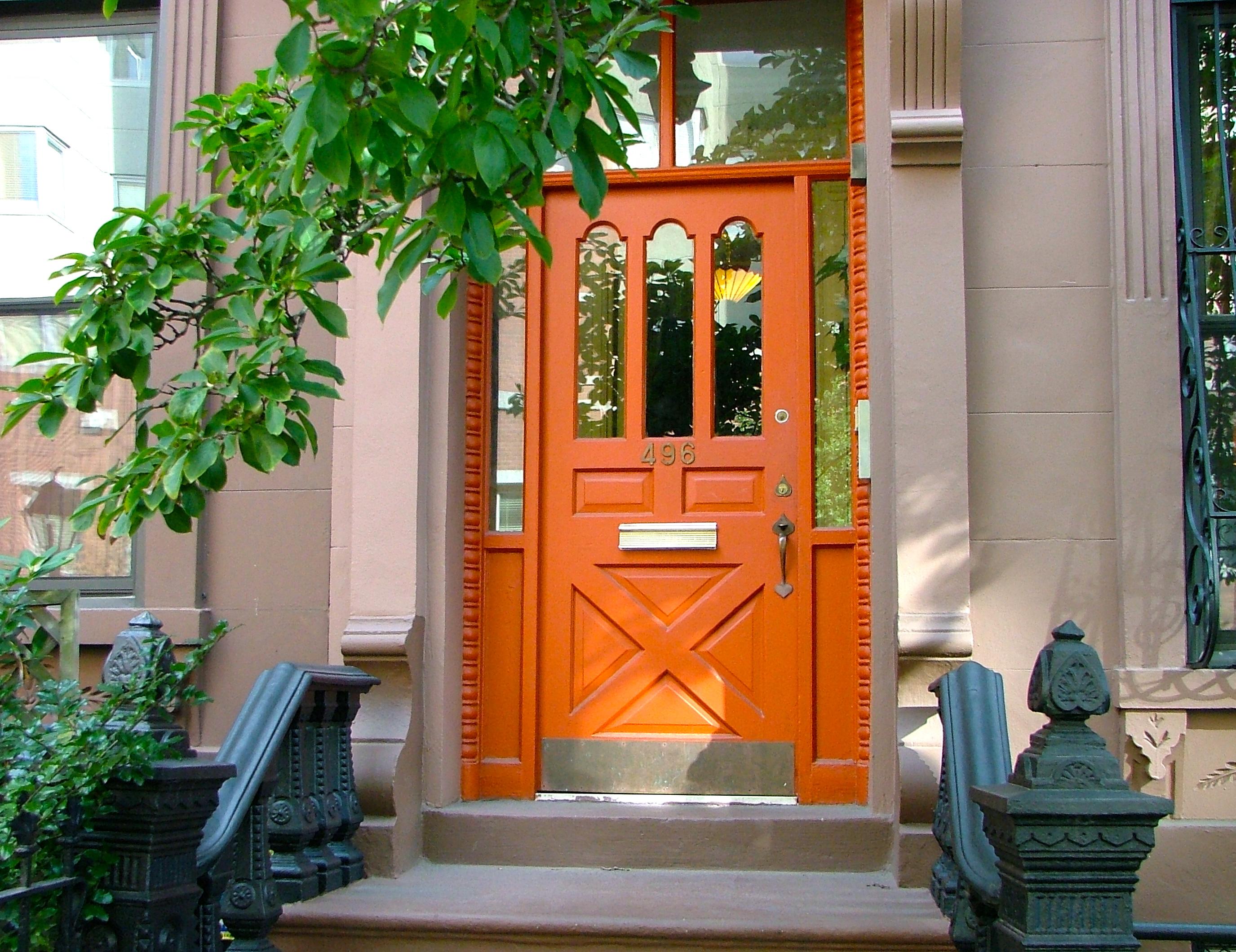 October Orange Door & October Orange Door | Susty Life